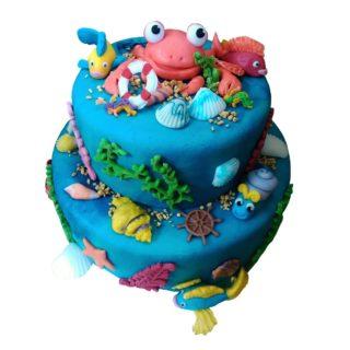 Patrový dort mořský svět