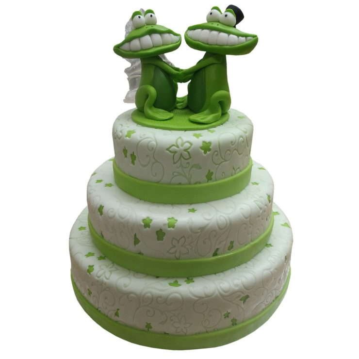 Patrový dort se žábami