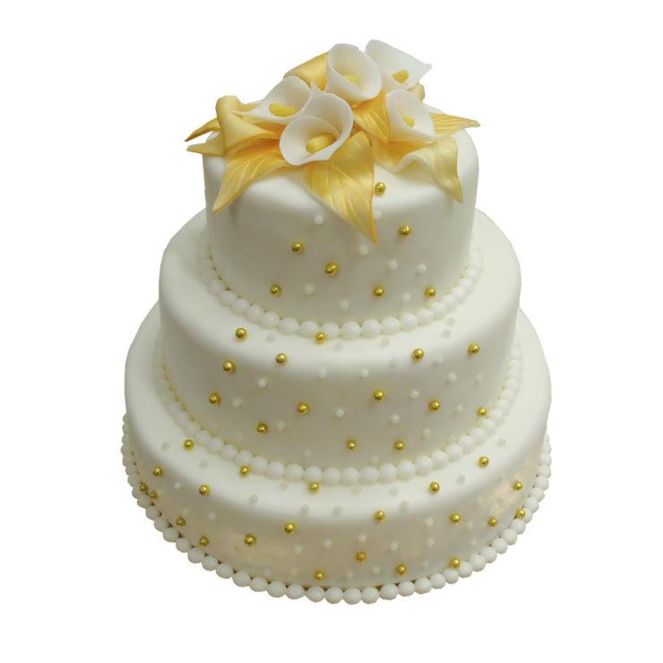 Patrový vyšší dort  s kalami
