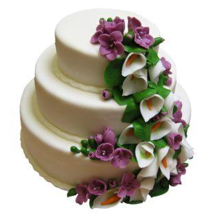 Patrový dort s kaskádou frézií a kal