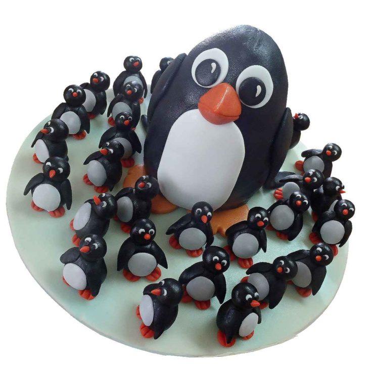 Rodinka tučňáků