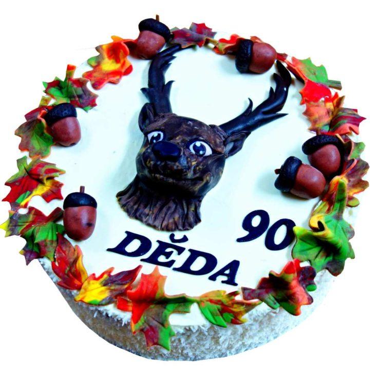 Myslivecký dort s jelenem