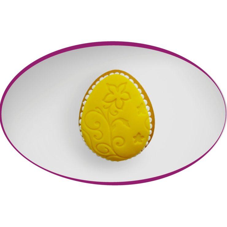 Velikonoční vajíčko zdobené marcipánem 8 cm, 35 Kč