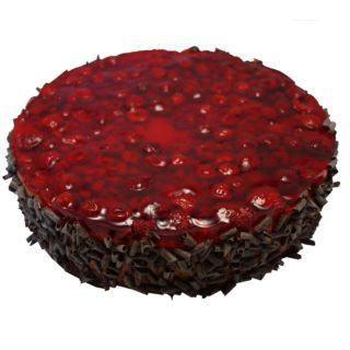 Čokoládový mousse s čerstvým ovocem potaženým farciturou